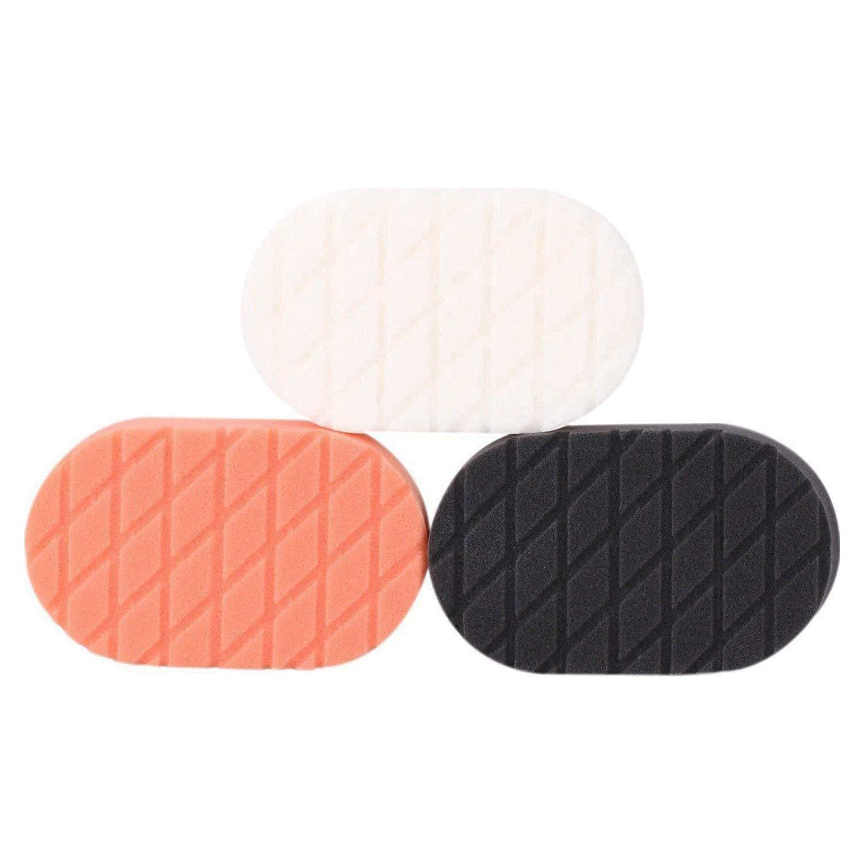 SPTA Light Cut and Finish Applicator Polishing Pad, Buffing Pads Set For Car Wax Buff, Pack of 3Pcs