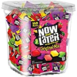 Now & Later Original Taffy Chews Candy, Assorted, 150Count Chews, 90 Oz Jar