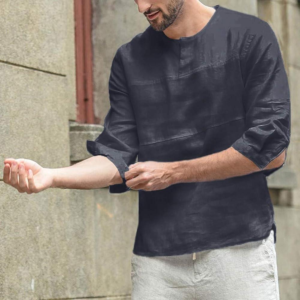 YUTING Camisa Hombre Blusa Suelta Casual Transpirable Top de ...