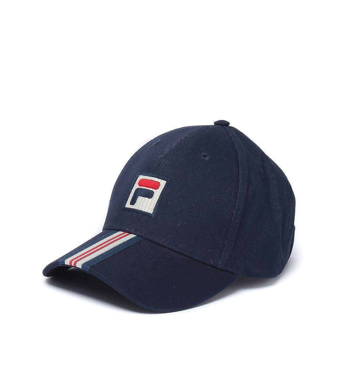 Fila Vintage Walker Baseball Curved Visor Cap Hat Navy Blue Peacoat   Amazon.co.uk  Clothing 22106cab068