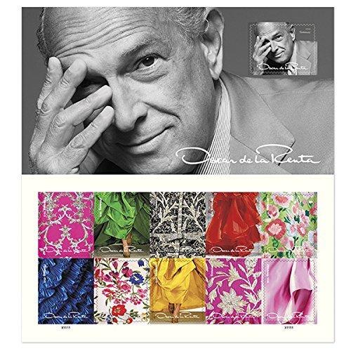 2017 Oscar De La Renta Mint Sheet of 11 Forever Postage Stamps Scott 5173 By USPS