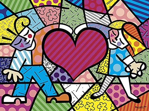POP ART PRINT Heart Butterfly by Romero Britto Bright Happy Poster 14x11