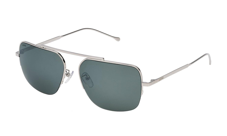 Loewe SLW492M59579X Gafas de Sol, Shiny Palladium, 59 para ...