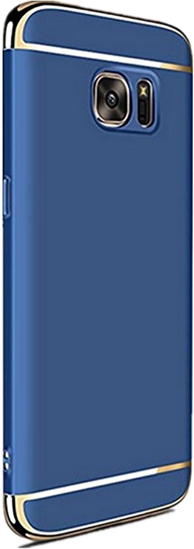 Teryei Funda Huawei Samsung Galaxy S6 Edge Plus 3 in 1 alta calidad ultra fina Protector completo PC carcasa Shell Negro Cáscara Dura Case para Samsung Galaxy S6 Edge Plus
