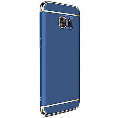 Teryei Funda Huawei Samsung Galaxy S6 Edge Plus 3 in 1 alta calidad ultra fina Protector completo PC carcasa Shell Negro Cáscara Dura Case para ...