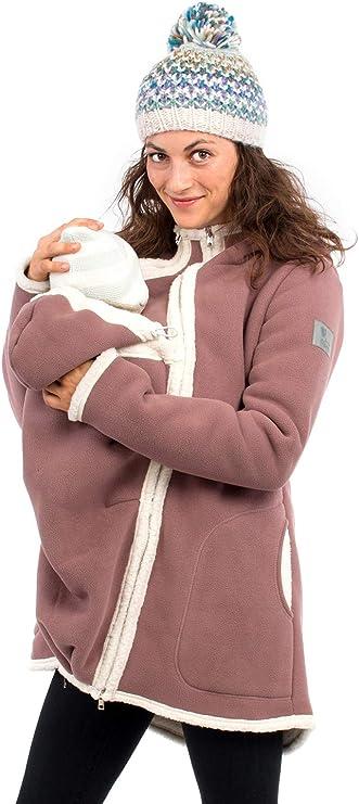 CRGL Umstandsjacke Mutterschaft Hoodie Tragejacke Fleece F/ür Mama Babytragejacke Frauen Winter Tragejacke Erweiterung,Braun,M Neugeborene K/änguru Jacken