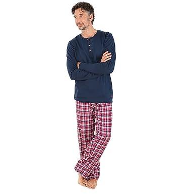 c24b4d49c3342 Living Crafts Herren Schlafanzug aus reiner Bio-Baumwolle  Amazon.de ...