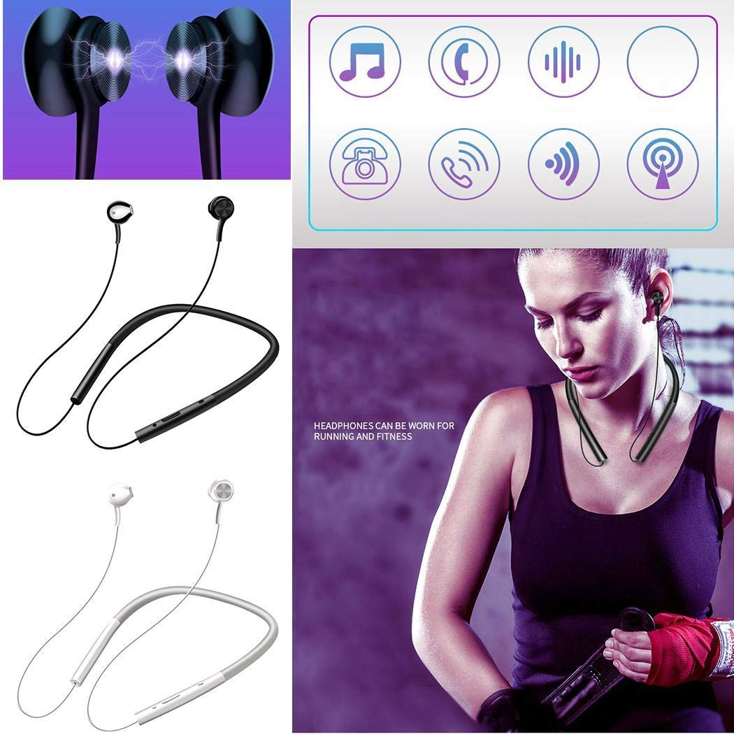 Fantastick New Bluetooth Headset 5.0 Wireless Neck Hanging Sports Running Headphone