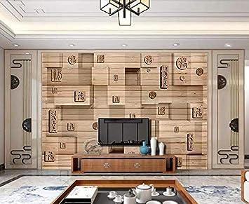 Papel tapiz 3D Mural de pared Caja de bendición de madera China Mural Wallpaper Modern Wall Wallpaper papel pintado a papel pintado pared dormitorio autoadhesivo wallpaper fotos blanco in-430cm×300cm: Amazon.es: Bricolaje y