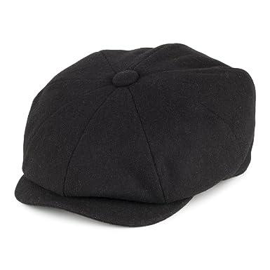 5ee6a967625 Christys Hats Melton Wool Newsboy Cap - Black  Amazon.co.uk  Clothing