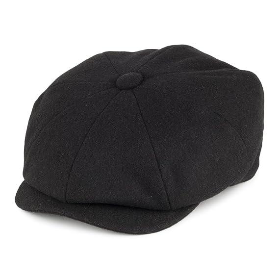 223e87cf Christys Hats Melton Wool Newsboy Cap Black Medium [Apparel]: Amazon.co.uk:  Clothing