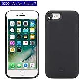 """Mbuynow 5200mAh Power Bank iPhone 7 Custodia Batteria Cover Ricaricabile a lunga durata, Backup Custodia per Apple Iphone 7 (4.7"""") - Nero"""