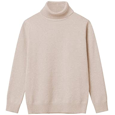 3593ea2ad Girl Sweaters Pullover Turtleneck Knitted Long Sleeve Solid Color Kids  Winter Tops Clothes Apricot