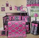 zebra crib mobile - SISI Baby Girl Bedding - (Purple) Zebra Princess 14 PCS Crib Nursery Including Music Mobile