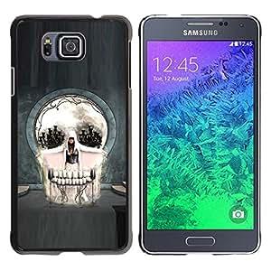 EJOY---Cubierta de la caja de protección la piel dura para el / Samsung ALPHA G850 / --Cráneo gótico del arte abstracto