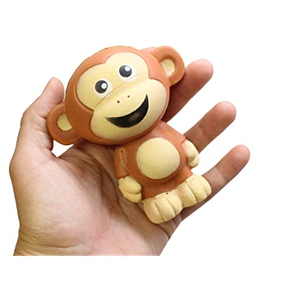 Monkey Large Squishy Slow Rise Animal - Sensory, Stress, Squish Fidget Toy Memory Foam ADHD (Random Color): Industrial & Scientific