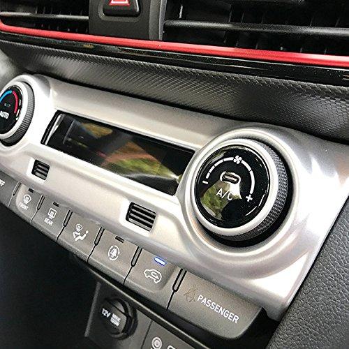 YUZHONGTIAN ABS Kunststoff Innen matt Center A//C Anpassung Button Abdeckung Trim 1/F/ür Kona 2017/2018