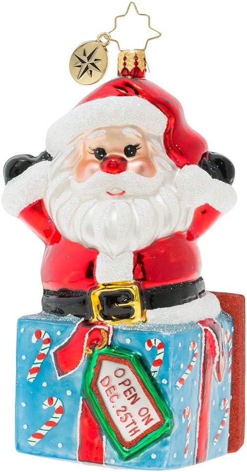 Christopher Radko Hand-Crafted European Glass Christmas Decorative Figural Ornament A Warm Hug from Santa!