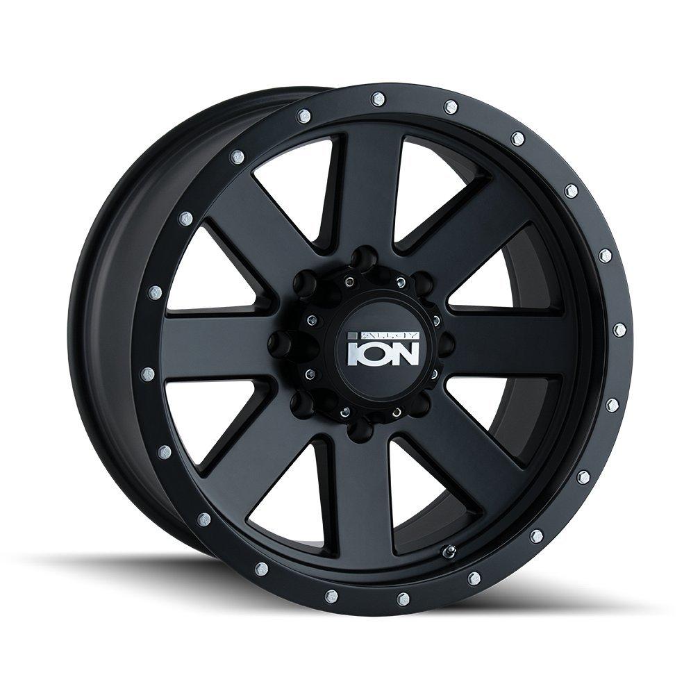 Ion 134 Matte Gunmetal/Black Beadlock Wheel with Painted finish Finish (17x8.5''/6x120mm)