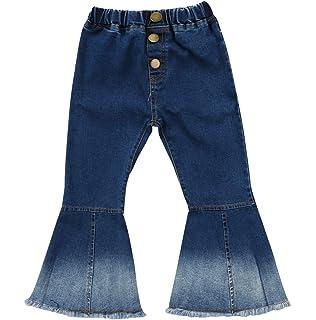 12e75447d Specialcal Toddler Little Kid Girls Denim Jeans Bell Bottom Flare Pants  Leggings Trousers