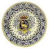 MAJOLICA TOSCANA: Wall Plate with Renaissance Crest design (16D)