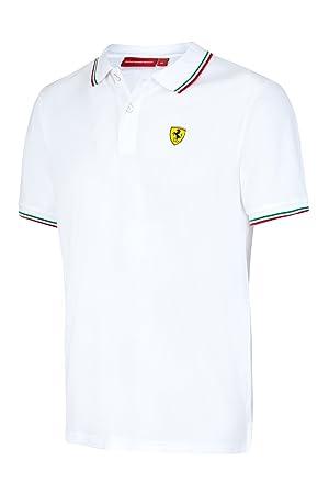 Master Lap Polo Scuderia Ferrari Italia Blanco XL: Amazon.es ...