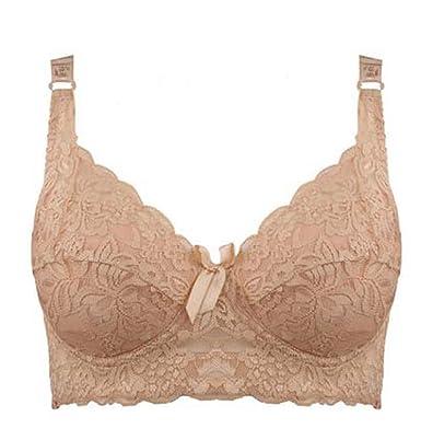 Sweettiantian Femme Dunkel Beige Souple Padded Push Up Soutien-gorge Bra  Brassiere Top Underwear Grande e19bae0162a