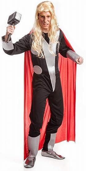 Disfraz tipo Thor. Talla 52 de hombre. Incluye Mono y Capa ...