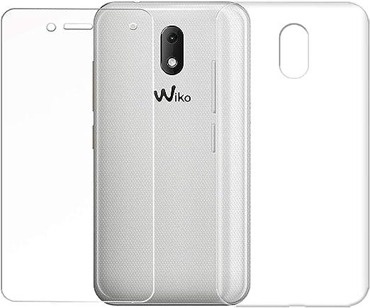 QFSM Wiko Sunny 3 Mini Funda Silicona Carcasa TPU Case Cover + 1 Pack HD Película Protectora Cristal Templado para Wiko Sunny 3 Mini (4.0 Pulgadas)-Clear: Amazon.es: Electrónica