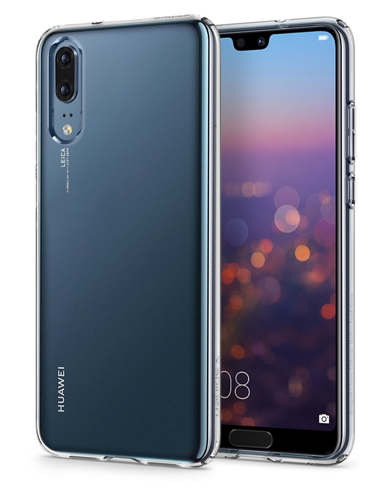 Huawei P20 Cover, Spigen [Liquid Crystal] Pure Clear [Crystal Clear] De beschermhoes / Light thin Premium Siliconen TPU-tas - Hoesje Hoesje Huawei P20, P20 cover - (L21CS23081)