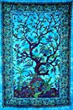 Textile Export Beautiful Tapestry Exclusive Indian Twin Hippie Wall Hanging Single Bedspread