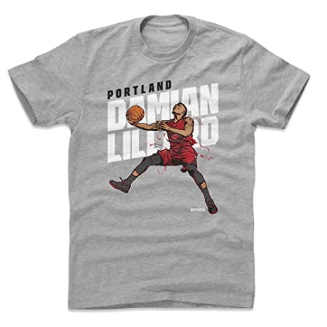 5bfd8e9ea 500 LEVEL Damian Lillard Cotton Shirt Small Heather Gray - Vintage Portland  Basketball Men s Apparel -