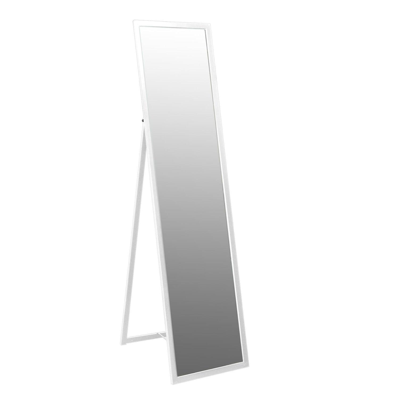 Harbour Housewares Specchio a Lunghezza Integrale, Autoportante, con Struttura in Metallo, da 1.370 mm, Colore Bianco
