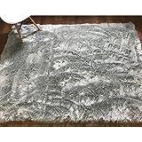 Serene Super Soft Faux Sheepskin Shag Silky Rug Accent Decorative Childrens Room Rug Steel Gray,5' x 7'