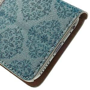 MaryJane 11020123E funda de piel con tapa y función atril para Apple iPhone 6 - Azul Damask