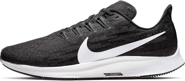 Nike Men's Air Zoom Pegasus 36 Running Shoe X Wide Black/White/Thunder Grey  Size 11.5 X-Wide US