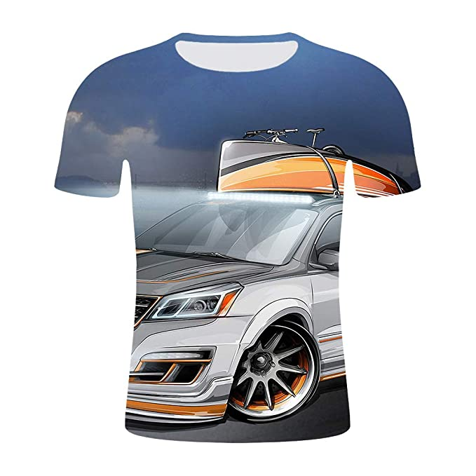 JXKEF Camiseta 3D Impresora Anime Movie Game Racing Hombre ...