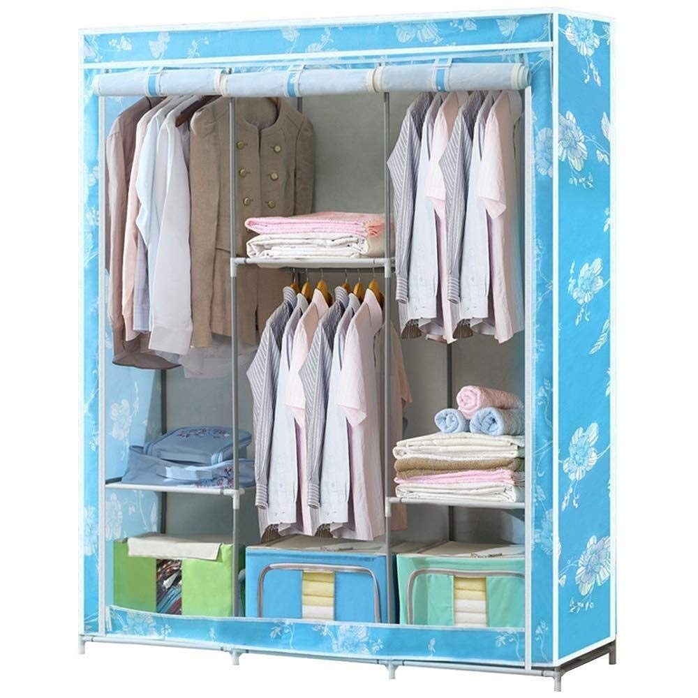 ZSMPY Portable Wardrobe, Wardrobe Simple Cloth Wardrobe, Simple Modern Wardrobe Assembly Folding Fabric, 13045166CM by ZSMPY