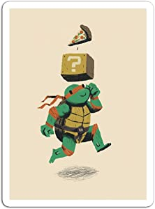 "BreathNenStore Sticker Television Show Turtle Powerup Tv Shows Series (3"" x 4"", 3 PCS/Pack)"