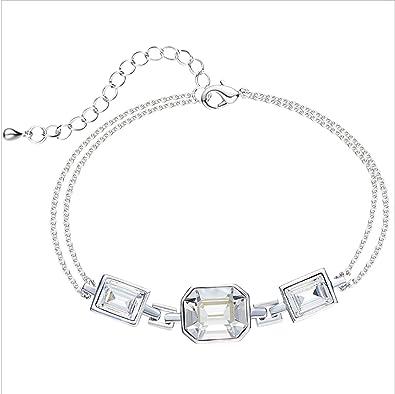 Argent Charms Bracelet Austrian Fantaisie 925 Anazoz Femme vmN80nwO