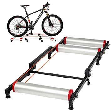 RockBros - Rodillo de entrenamiento para bicicleta estática, plegable, color negro y