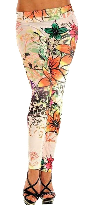 Honey GD Womens Girls One Size Slim Fitted Print Skinny Leggings