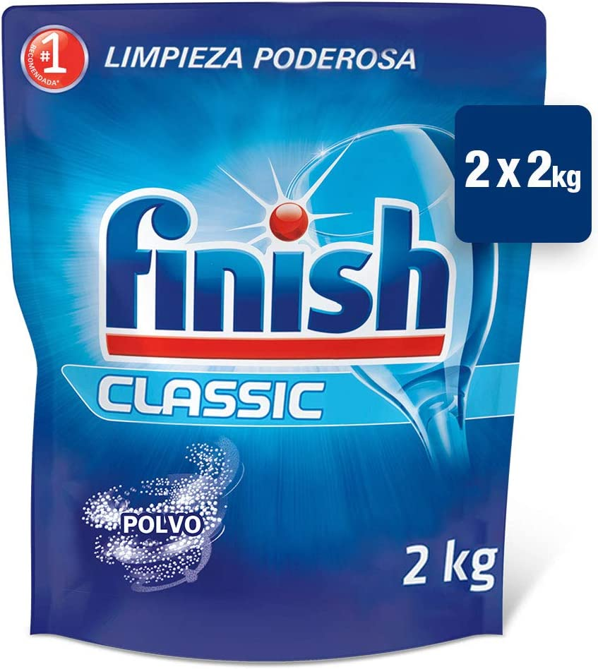 Finish ECO Recarga Lavavajillas Polvo, 2 X 2 kg: Amazon.es: Salud ...