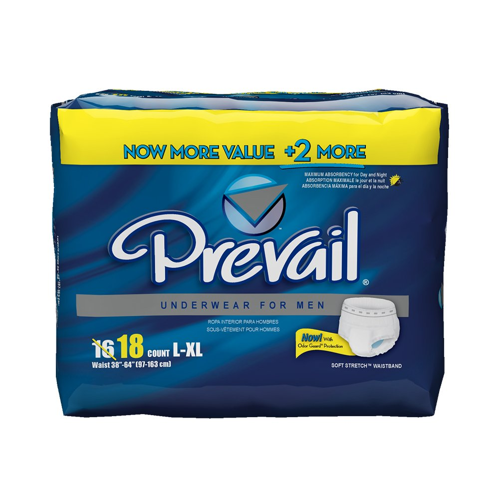Amazon.com: Prevail Maximum Absorbency Incontinence Underwear for Men, Small/Medium, 60 Count: Health & Personal Care
