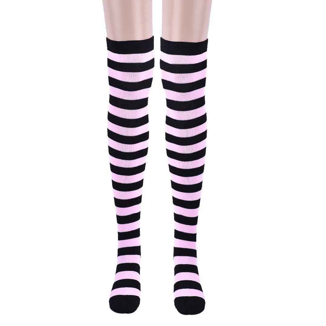 Changeshopping 1 Pair Thigh High Socks Over Knee Girls Fringe Socks