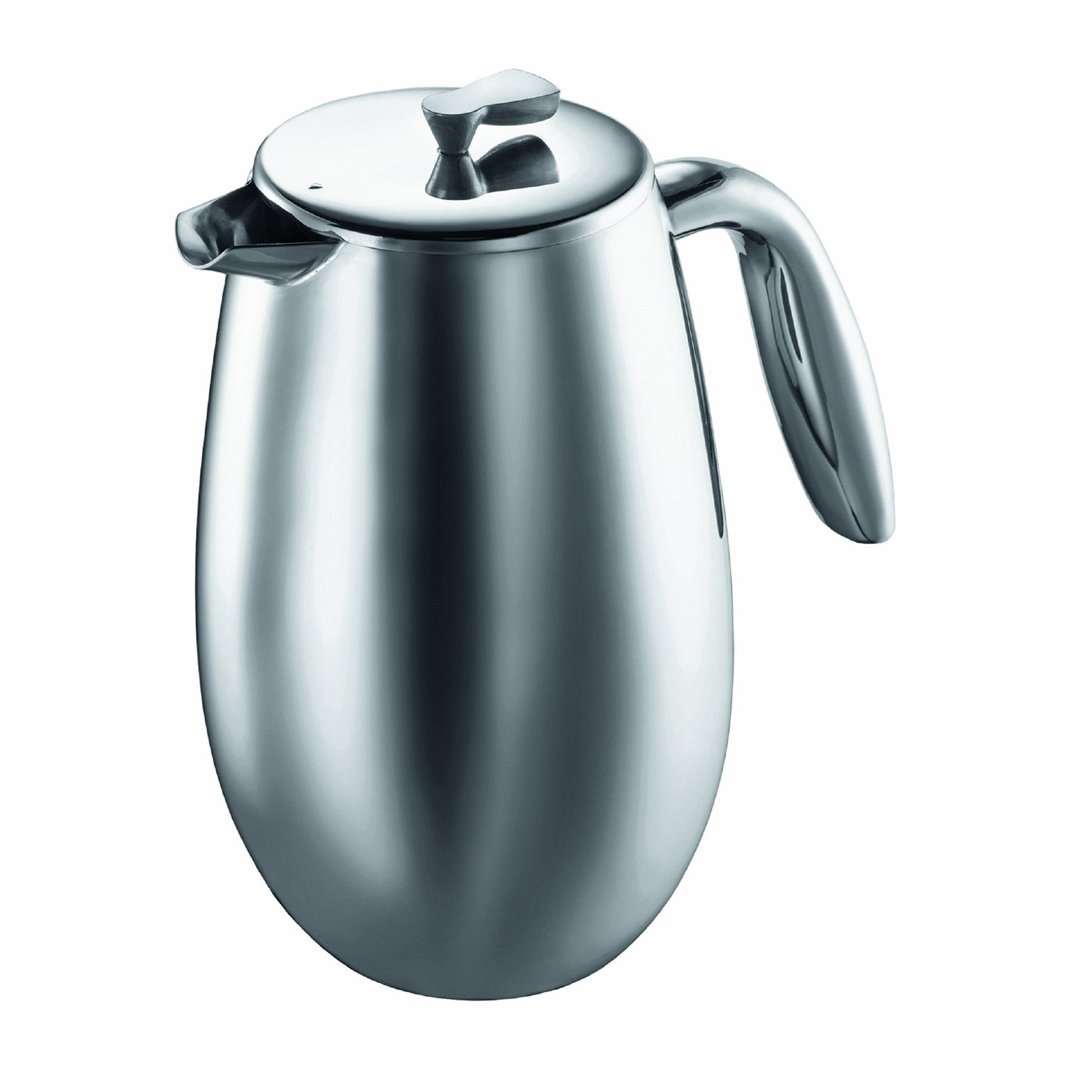 Bodum Columbia Thermal French Press Coffee Maker, Stainless Steel, 34 Ounce, 1 Liter (8 cup) by Bodum