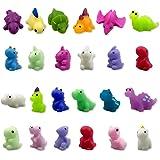 QINGQIU 24 PCS Dinosaur Kawaii Squishies Mochi Squishy Toy Stress Relief Fidget Toys Pack for Kids Boys Girls Party Favors Bi