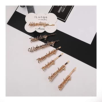 Chic Women Gold Hair Clips Barrette Hairpin Bobby Pins Jewelry Hair Accessories