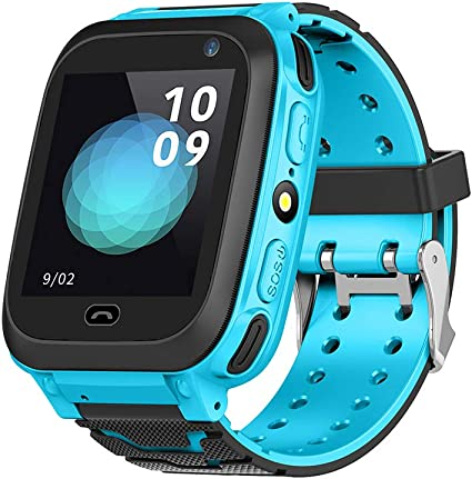 Bewinner Bluetooth Smart Watch for Children Kids GPS Locator Watch Kids SOS Watch - by Plugging in SIM Card, You Can Talk with Kids - SOS Emergency ...