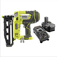 Ryobi ZRP325 18V ONE+ 16GA Cordless Finish Nailer Kit with High Capacity Battery (Renewed)